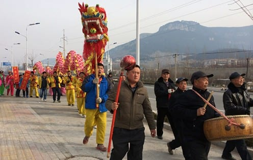 Villagers from the township taking part in a local festival (Photo: Tom McDonald)