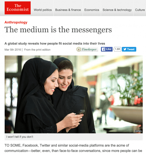 The medium is the messengers