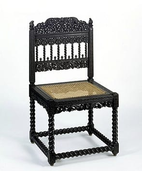 For more on ebony furniture, go to our case study. Objects such as these exotic 'oriental' goods piqued the interest of British consumers in the sub-continent, encouraging families to send their sons into the East India Company service. By the eighteenth century there was a well-developed market for the Indian production of furniture in European forms, of which the Russells were avid consumers.