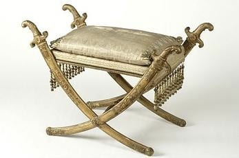 While in India Henry and Charles mainly consumed Indian wares, but on returning to Britain they went straight to continental Europe to consumer luxury goods, perhaps such as this stool, there.