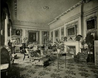 'The Drawing Room' (shown above left) and 'The Yellow Drawing Room, Swallowfield) (shown above right) in Lady Russell, Swallowfield and its Owners (London, New York and Bombay: Longmans, Green and Co., 1901).