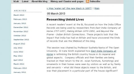 EICAH on Untold Lives blog