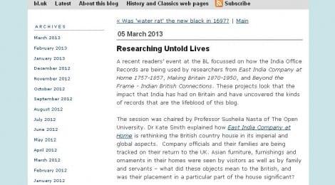 EICAH on Untold Lives blog