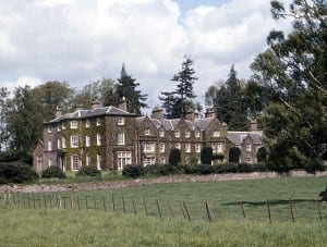 Arthurstone House in 1974. C18th part of the building to the left.