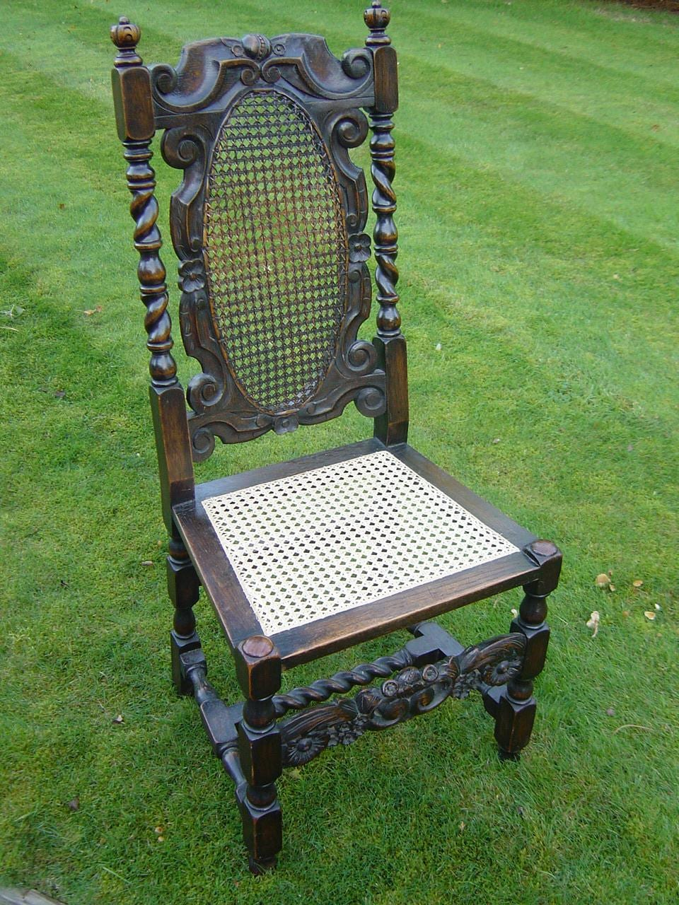 Figure 5. First Period: 1660 1730. Chair, C.1710. Chair Re Caned By Author.  Image Courtesy Of Author.