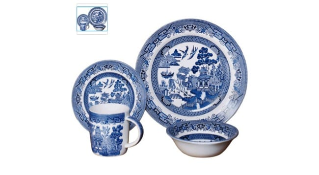 Figure 3 Willow Pattern Dinner Set Earthenware Transfer Printed In Underglaze Blue Sold At Argos 2017