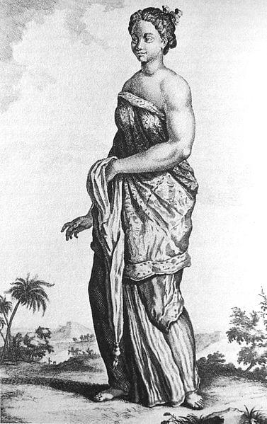 Balinese slave in Batavia in 1700 from Cornelis de Bruin Voyages de Corneille le Brun 1718