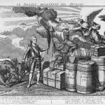 Le_destin_molestant_les_Anglais,_1780