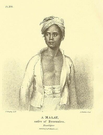 'A Malay', from Marsden's A History of Sumatra