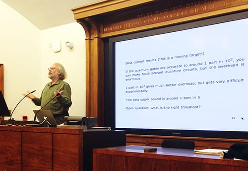Peter Shor talks to UCL Quantum
