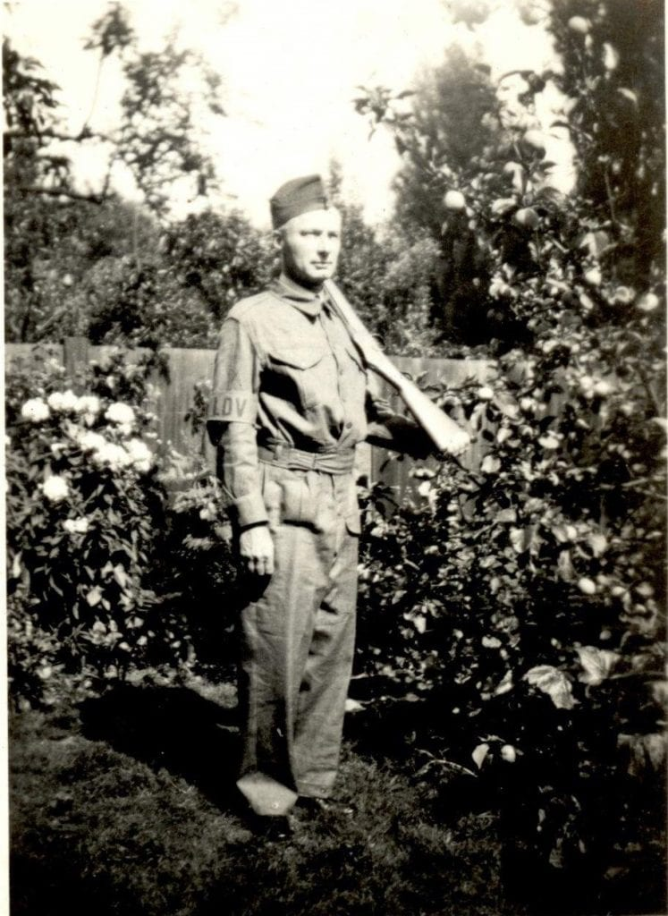NH/10/7 Nicholas Hans in his Home Guard uniform