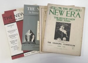 Selected copies of 'The New Era', The World Education Fellowship's journal.