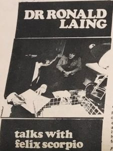 Photo of RD Laing, International Times no 59, July 4-19 1969 (image courtesy of UCL Special Collections)