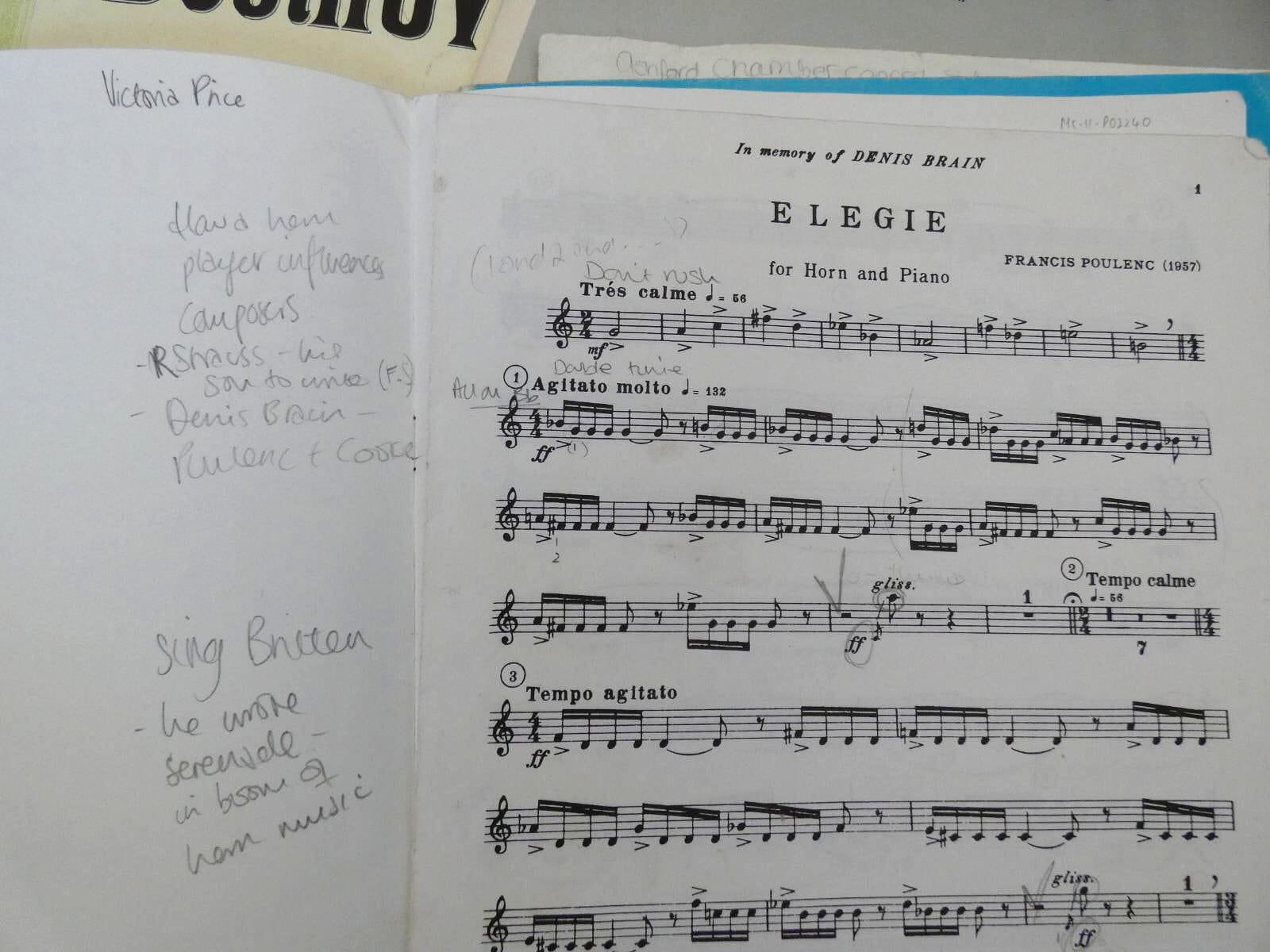 Notations inside music book