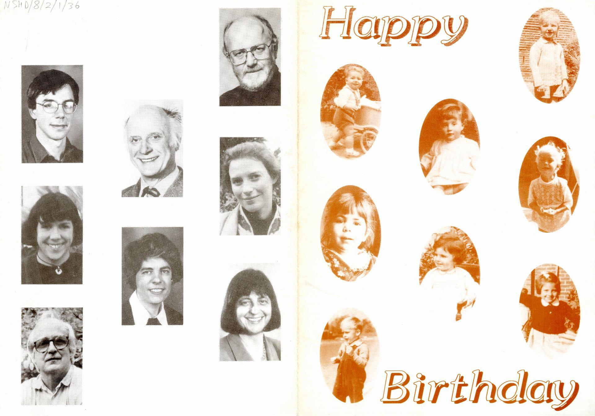 The 1996 NSHD birthday card design.