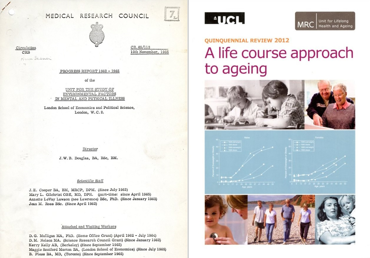 NSHD Progress Reports to the MRC in 1965 and 2012.