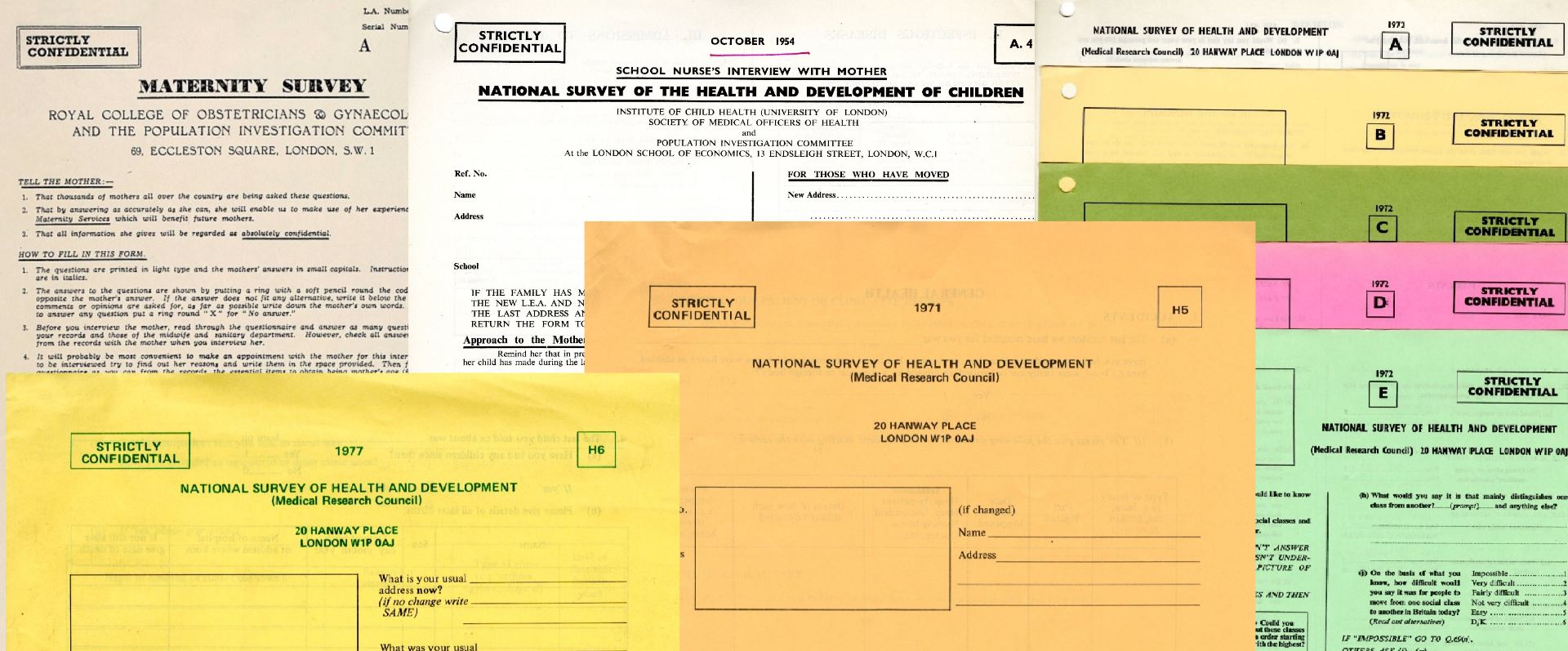 A selection of blank questionnaires used in the MRC NSHD.