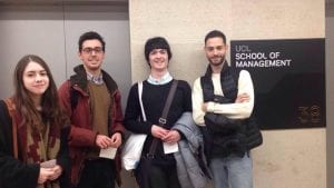 SITE team members at the UCL School of Management