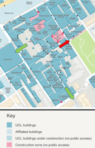 Map of UCL Bloomsbury campus