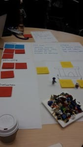 Fun with Lego at the participatory design workshop