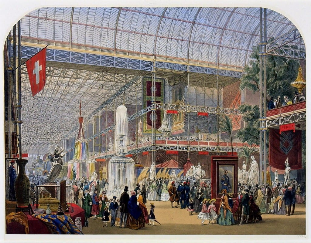 Oslers' crystal fountain at the Great Exhibition of 1851, from a print by John Absolon (© Victoria and Albert Museum, London)