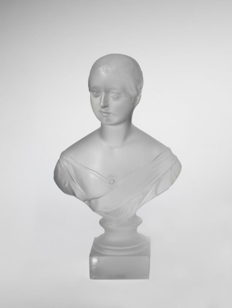 A glass bust of Queen Victoria shown by F. & C. Osler at the Great Exhibition of 1851 (© Victoria and Albert Museum, London)