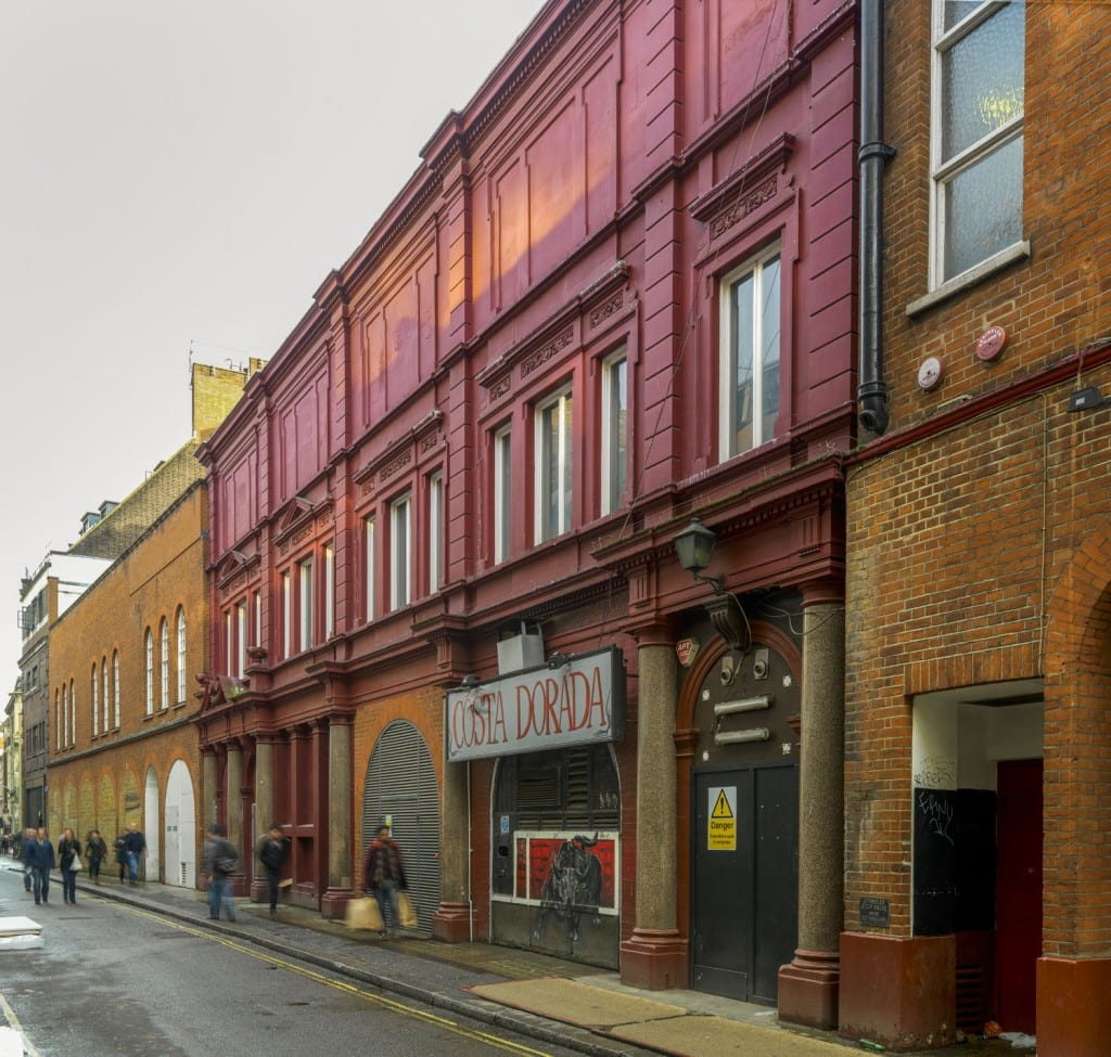 A view of Costa Dorada, Hanway Street from the north-east in 2014 (© Historic England, Chris Redgrave)