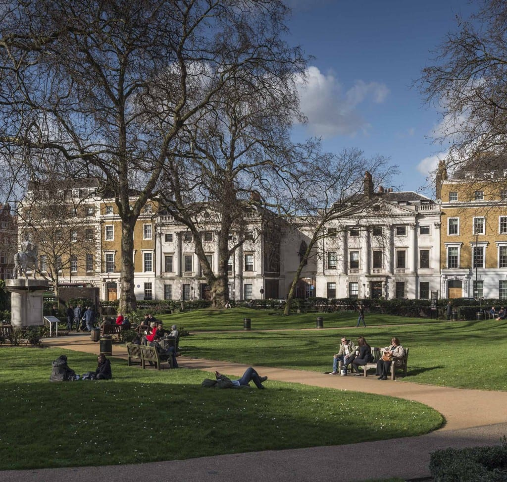 Howard de Walden Project. General view of Cavendish Square, Marylebone, Greater London. View from south.