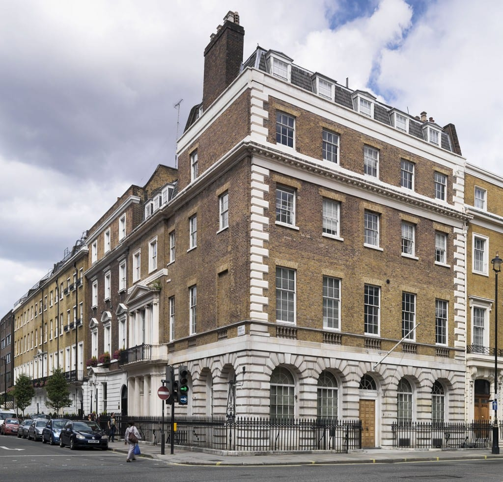 16 Cavendish Square, Marylebone, Greater London. View from the south west. (© Historic England, Chris Redgrave)