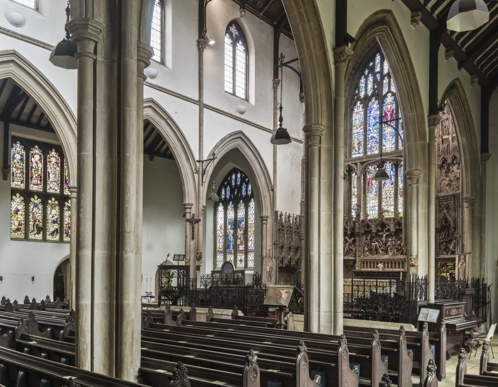 View through to the nave from the south aisle (© Historic England, Chris Redgrave).