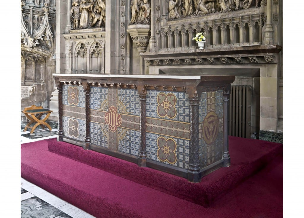 The altar designed by A. W. N. Pugin (© Historic England, Chris Redgrave).