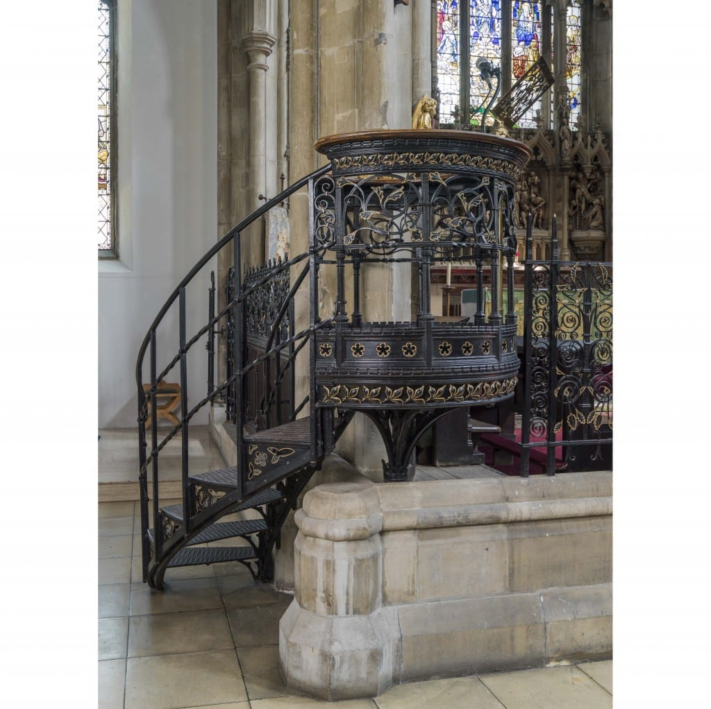 St Andrews Church, Kingsbury,Greater London.Pulpit Taken for the Survey of London.