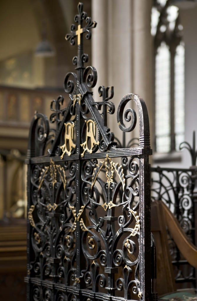 Detail of the chancel screen (© Historic England, Chris Redgrave).