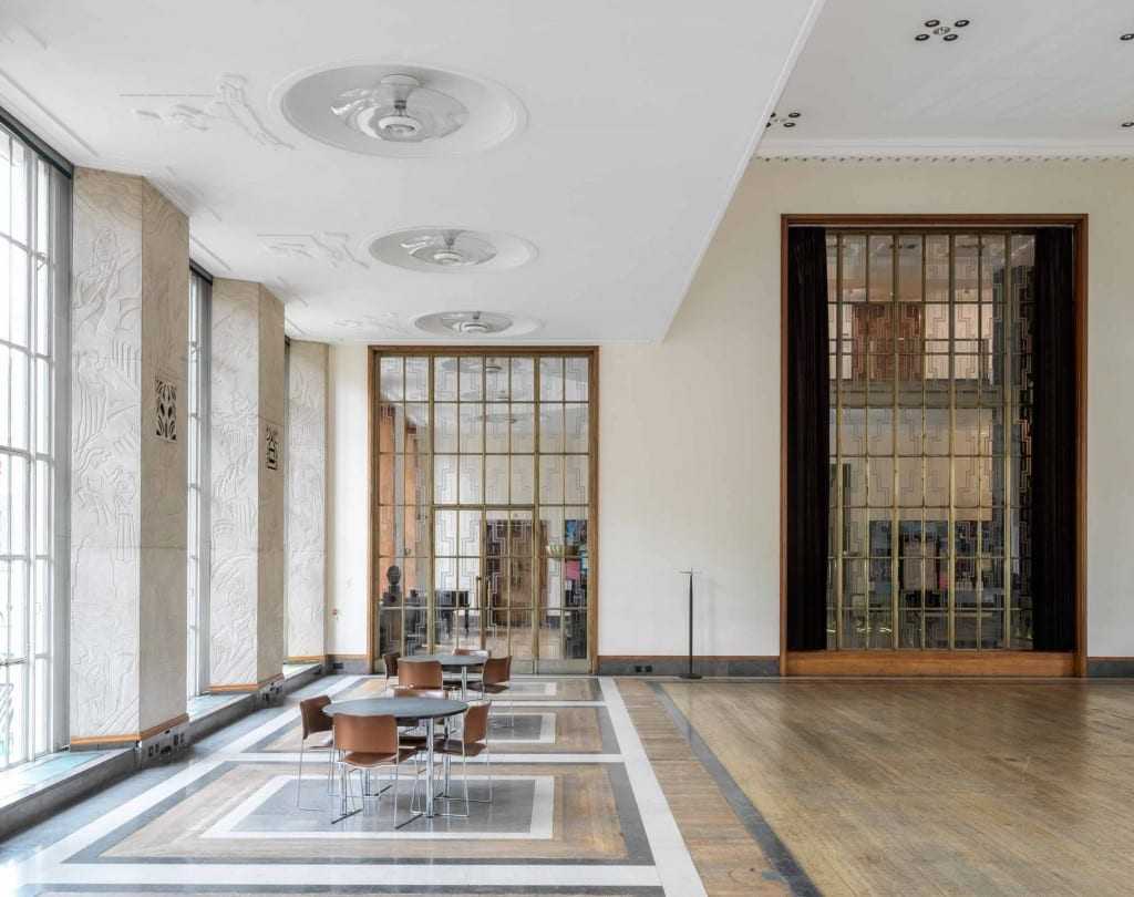 Howard de Walden Project. Royal Institute of British Architects, 66 Portland Place, Marylebone, Greater London. Florence Hall, first floor, view from east