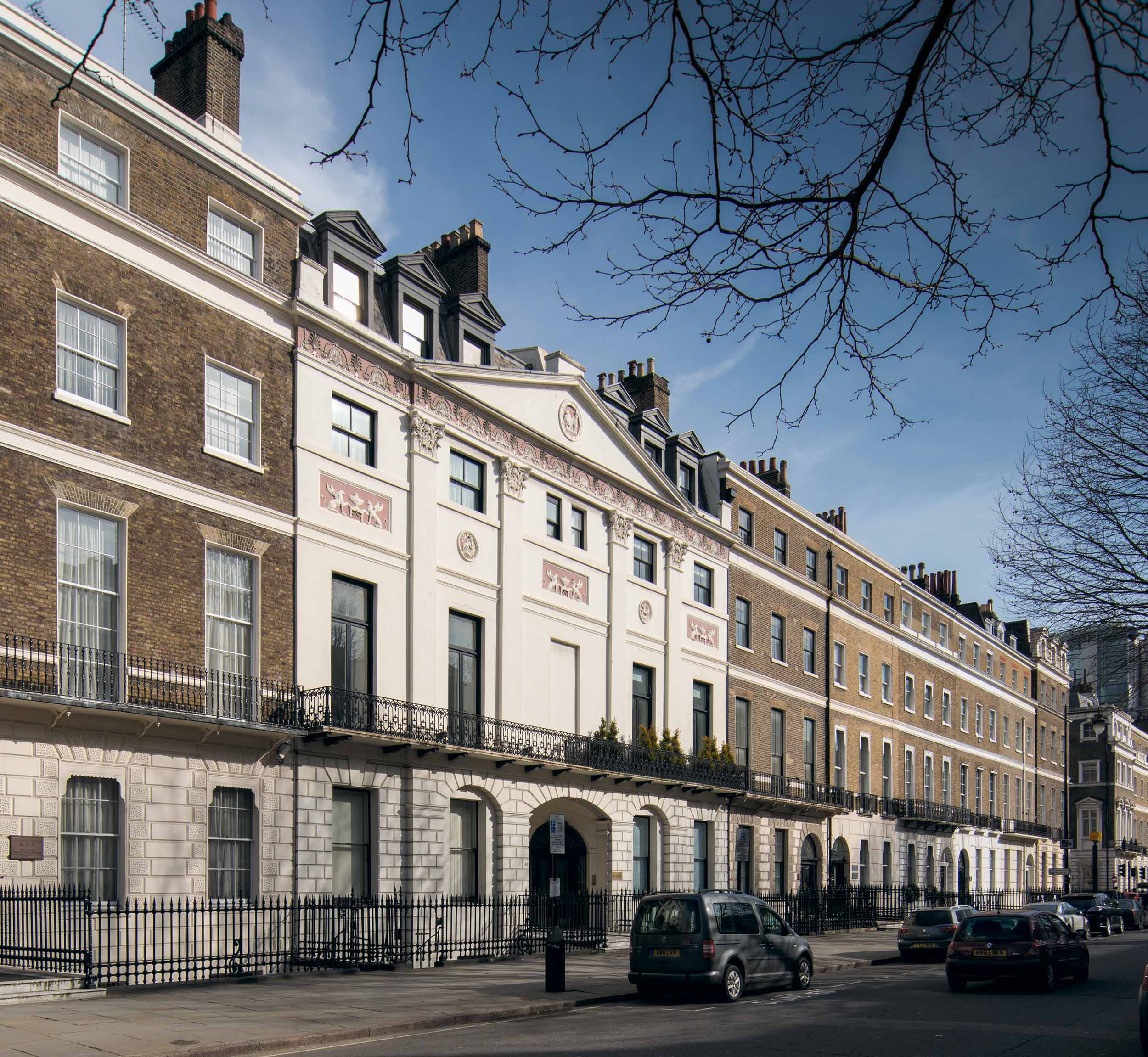 Howard de Walden Project. General view with 46 & 48 Portland Place, Marylebone, Greater London. View from north west.