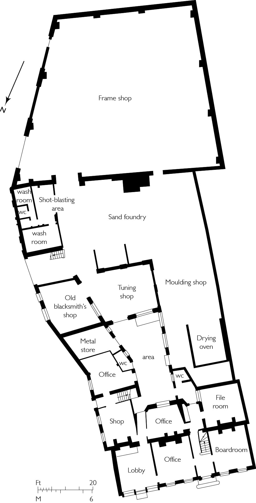 bell foundry ground floor plan
