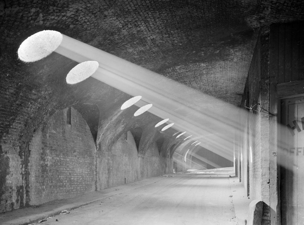 5 The Adelphi vaults in 1936. Historic England Archive photograph (AA65/00065)