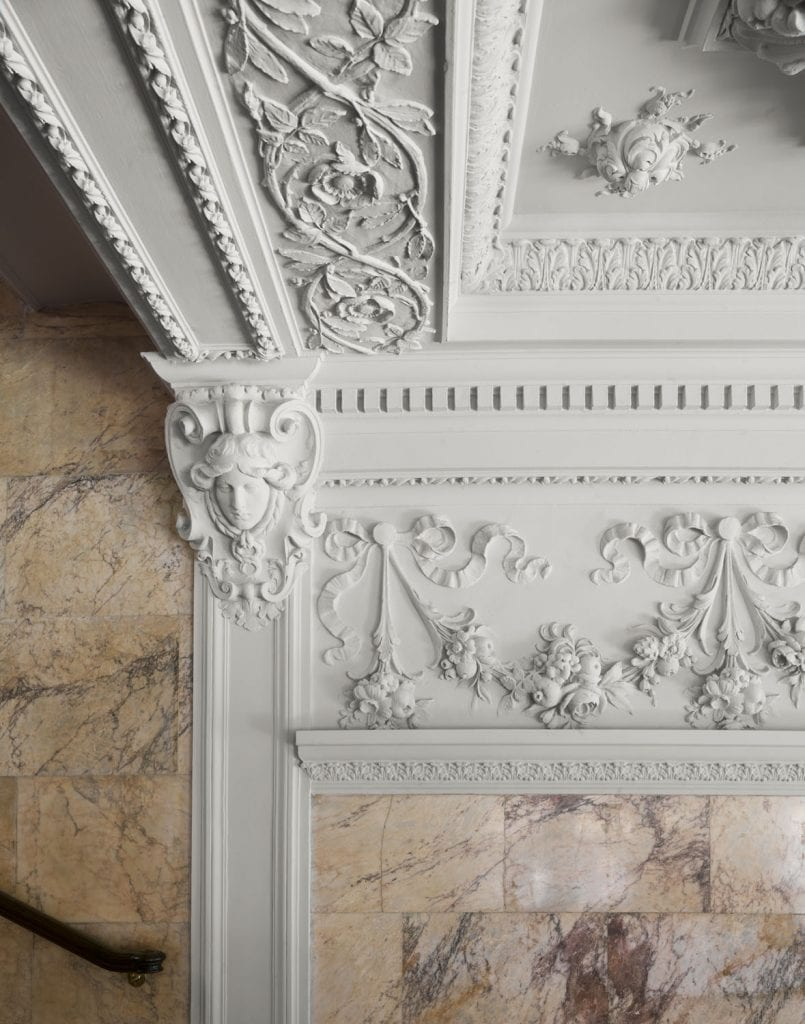 Berners Street Hotel Berners street, Marylebone. Plasterwork detail. Taken for Survey of London