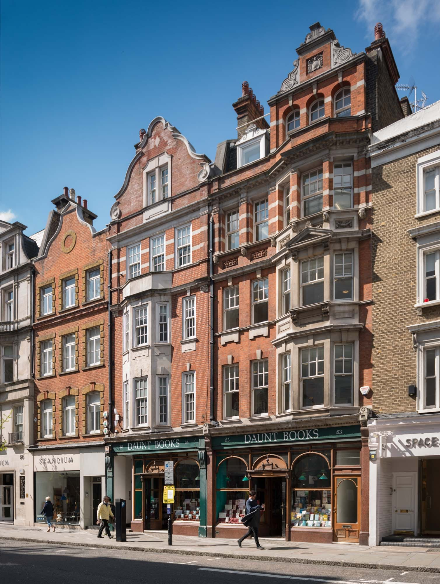 Daunt's Bookshop, Marylebone High Street. Photographed by Chris Redgrave for the Howard de Walden Estate and the Survey of London Historic England