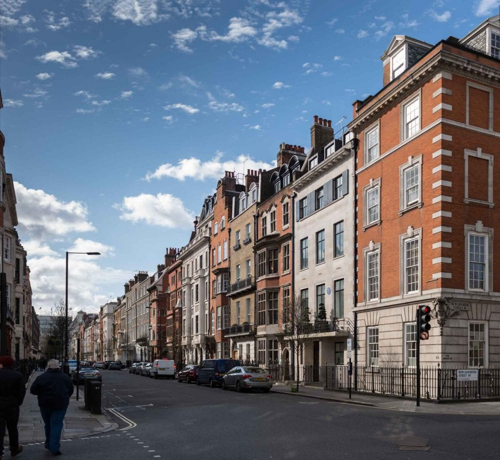 Howard de Walden Project. Harley Street, Marylebone, Greater London. View from.