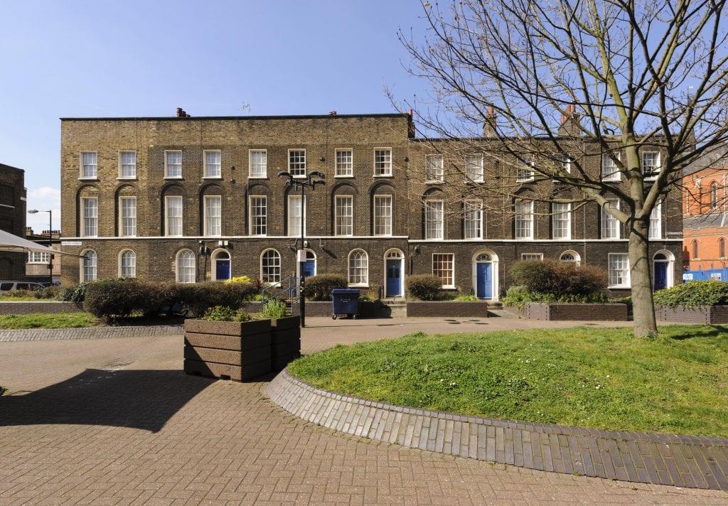 Survey of London - Whitechapel Volume Philpot Street, view from east.