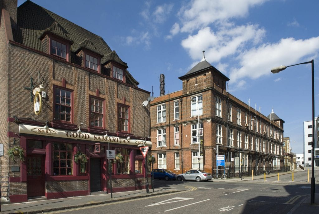 Survey of London - Whitechapel Volume The Good Samaritan Public House, 87 Turner Street, view from south east.