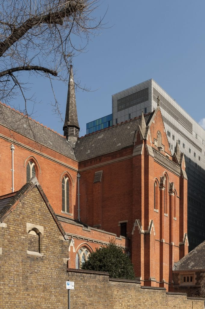 Survey of London - Whitechapel Volume Whitechapel Library in former Church of St Augustine with St Philip, Newark Street. View from south west.