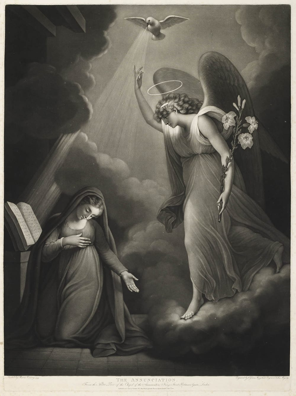 Maria Cosway s altarpiece painting. Mezzotint of 1800 by Valentine Green.  (© Trustees of the British Museum) e2f21c8c7de