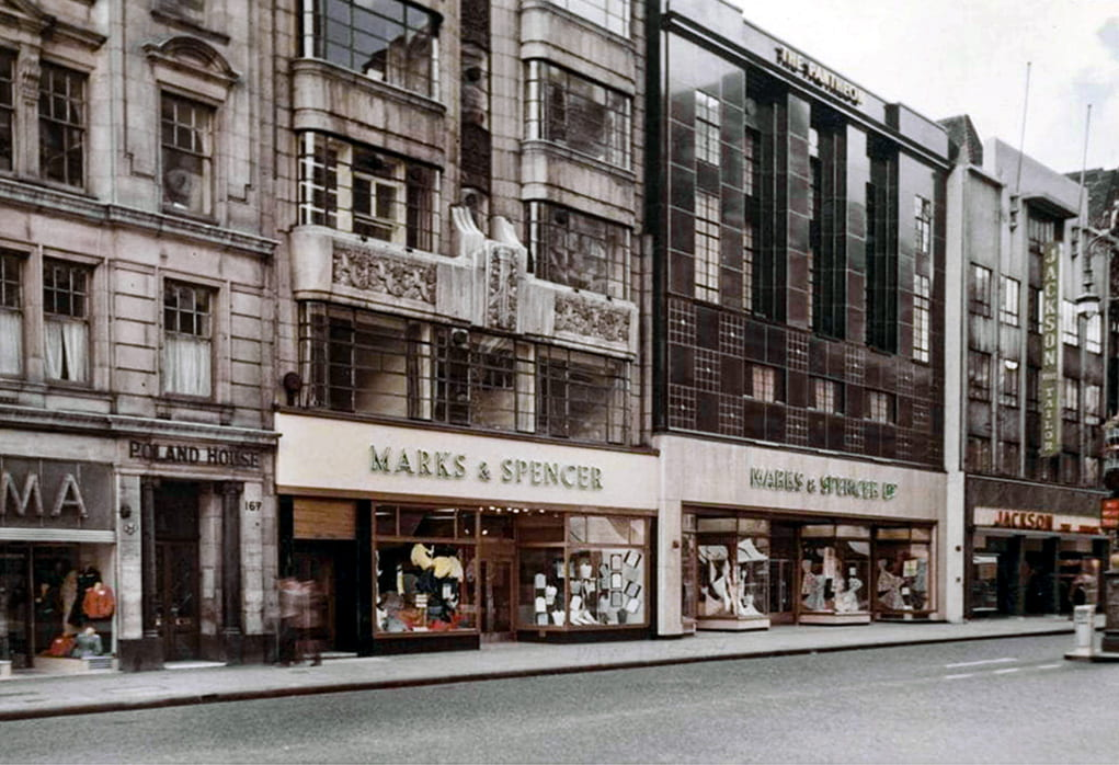 46931a664e3b0 The Pantheon store, photographed in July 1951 after its extension eastwards  into 169–171 Oxford Street (The M&S Company Archive, P2/87/195)