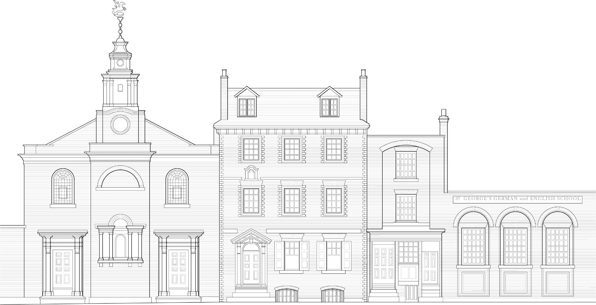 St George's German Lutheran Church and Goodman's Fields |  UCL The Survey of London