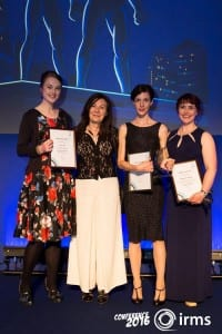 UCL Student Abigail Wharne with Alison North, Sunny Seregen and Katherine O'Keefe.