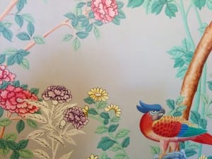 Wallpaper in the King William IV room
