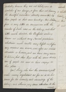 Elizabeth Paterson to Maria Sophia Bentham, 7 Oct 1800 (p.1) British Library Add. MS  33,453, fo. 423v