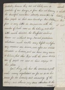 Elizabeth Paterson to Maria Sophia Bentham, 7 Oct 1800 (p.1) British Library Add. MS  33,453, fo. 423v